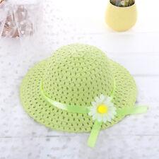 Kids Charm Princess Straw Baby Girl Sun Hat Flower Cap Lovely For Summer -RA59