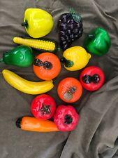 13 Murano Style Art Glass Fruit Vegetables