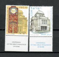 S33909 Israel MNH 2004 Sinogoga 2v + Tab Joint Issue Italy