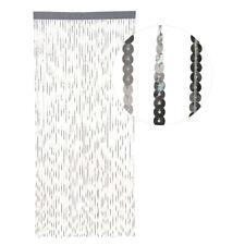HAB & GUT Türvorhang SILBER aus PAILETTEN, 90 cm x 200 cm