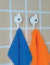 2x kitchen bathroom shower suction cup hooks caravan VW camper motorhome boat RV