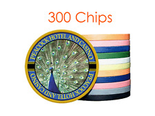 Custom Solid Color Poker Chips w/Your Logo/Design in Full Color - 300 chips