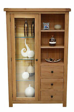 Oak Combination Display Cabinet with Storage and Glass Door Beaufort
