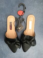 New, Primark Slip-On Black, Bow Shoe - Size 3