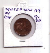 Regno d'Italia 10 centesimi 1919 Ape rame  V.Emanuele III   MB / BB    (m186)