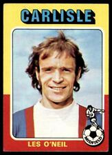 Topps Foootball 1975 Red/Grey (B2) Les O'Neill Carlisle United No. 220