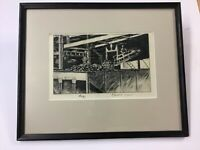 "Pennsylvania Artist Richard H. Reiber Etching ""Energy"""