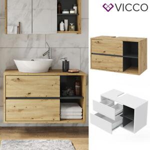 Vicco Badmöbel Viola Spiegelschrank Hochschrank Waschtischunterschrank hängend