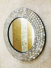 Mirror Wall Hanging Bedroom Mother of Pearl Inlay Frame Decorative Home Decor