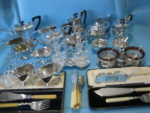 Very Nice Large Job Lot Antique & Art Deco Silver Plated Items & Plated Cutlery