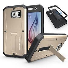 Samsung Galaxy S6 2015 Hybrid Armor Hard Case With Screen Protector / Kickstand
