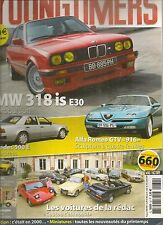 YOUNGTIMERS 32 PEUGEOT 605 SV 3.0 BMW 318is E30 ALFA ROMEO GTV 916 MERCEDES 500E