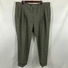 Henry Grenthel 100% Wool Black Check Men's Pants Waist 42 Inseam 28