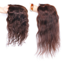 Hand-made Curly 100% Human Hair Topper Hairpiece Toupee Top Piece For Women