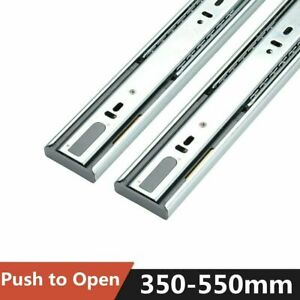 All Sizes 350-550MM HEAVY DUTY Drawer Runners Slides Ball Bearing Draw Grooved