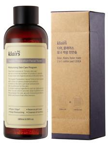 Klairs Supple Preparation Facial Toner (180 mL) + 2 in 1 Cotton Pads (120 pack)