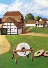 Alte Kunstpostkarte - Pat White - Bauernidylle