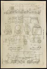Plan ancien locomotives Compound Système Mallet. 1909, Génie civil