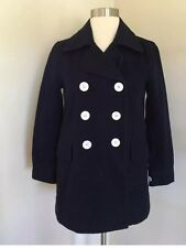 Jcrew Petite peacoat in heavyweight cotton twill Navy G3206 00P Spring 2017! Nwt