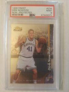 1998-99 Finest #234 Dirk Nowitzki Rookie RC (No Protector Parallel) RARE - PSA 9