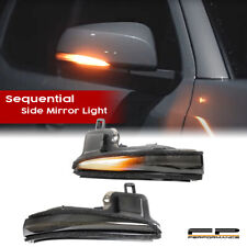 For 19-21 RAV4, 16-21 Tacoma Side Mirror LED Sequential Blink Turn Signal Lights