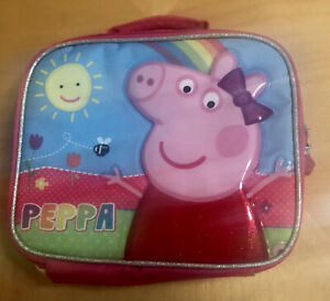 Peppa Pig Insulated Pink Lunch Box Bag Authentic Great Condition