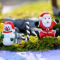 3x Christmas Santa Claus Miniature Garden Home Decor Snowman Micro LandscapingUP