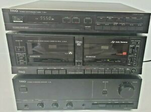Kenwood Trio Amplifier A-3x, Cassette deck X-3WX, Tuner T-3LX Hi Fi Separates