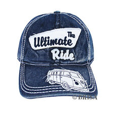 Baseball Cap T1 Camper Bus Blue Jeans Volkswagen VW Collection by BRISA BUCA01