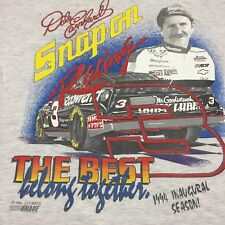 Vintage Dale Earnhardt Snap On T-Shirt Team Car Nascar Thin Soft Racing Race