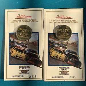 2 Pc. Limited Edition Commemorative Coin from the Inaugural NASCAR Brickyard 400