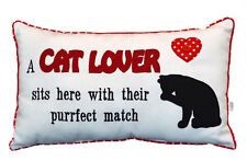 A CAT LOVER SITS HERE CAT CUSHION, COMES COMPLETE WITH COVER AND INNER