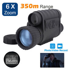 6X50 Digital Zoom Infrared Night Vision 350m Monocular Telescope For Sports Use