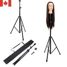 Adjustable Wig Head Stand Tripod Holder Mannequin Tripod for Hairdressing + Bag