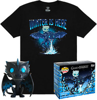 Game Of Thrones Icy Viserion Glow GITD Funko Pop Vinyl +T-SHIRT Set New in BOX