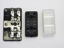 4-Way ATM Mini Blade Fuse Block Holder, w/Cover, Side Terminal, 32VDC, 100A,Bus