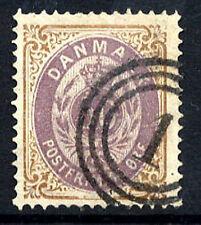 DENMARK 1875 50 øre  perforated 14:13½ in bluish-violet/brown, used