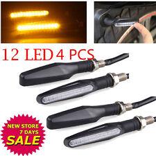 4 pcs Bendable Motorcycle LED Turn Signal Light Indicator Blinker Lamp Amber