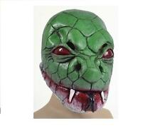 Linea UOMO DONNA SERPENTE VERDE LIZARD LATTICE maschera Costume Animale Divertente TV V MOVIE