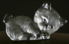 Vintage Hand Made Viking Kitten Figurine Paper Weight with Stickers