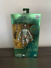 Star Wars Black Series Boba Fett Carbonized 6? Figure Hasbro 40th Anniversary