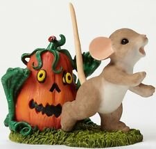Charming Tails LOOK OUT! IT'S A PUMPKIN ZOMBIE Mouse Halloween Figurine NIB Mice