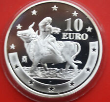 Spain-españa: 10 euro 2003, plata proof-pp, # f 1883, anniversary of the euro