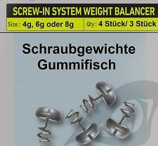 Prorex Screw-In Weight Balancer Schraubgewichte Gummifisch Raubfischangeln
