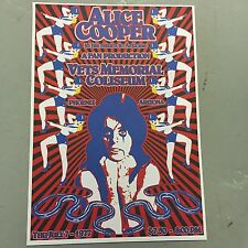 ALICE COOPER - CONCERT POSTER PHOENIX ARIZONA 7TH JULY 1977  (A3 SIZE)