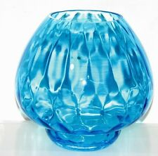 "PartyLite ""BLUE WAVES CANDLE HOLDER/VASE""  P9916 - Retired/Rare - 7"" New in Box"