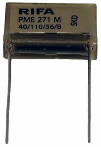 2 Capacitors Rifa PME 271 M X2 0, 1µF 0.1µF 100nF 100n 275V 20.3mm Sh 250V Mp