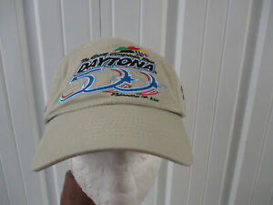 VINTAGE NASCAR DAYTONA 500 2001 STRAPBACK HAT CAP Dale Earnhardt BLACK SUNDAY