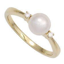 Natürliche Perle Echtschmuck aus Gelbgold