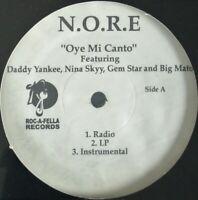 "N.O.R.E. ""OYE MI CANTO"" 2004 VINYL 12"" PROMO DADDY YANKEE, NINA SKYY *SEALED*"